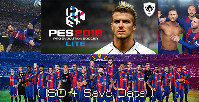 PES 2018 Lite v3 Offline ISO PSP Plus Save Data