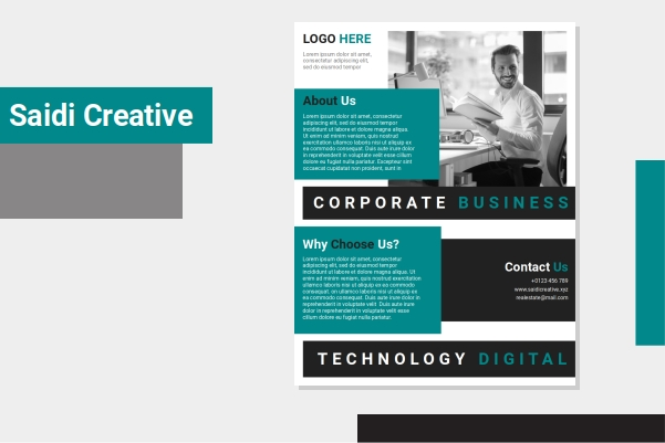 Free Corporate Business Flyer Template Word Document Fully Editable File
