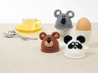 crochet panda koala bear Easter Egg Cozy
