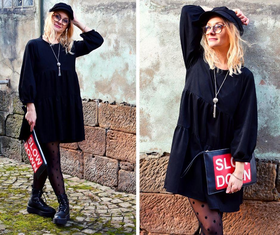 Lederkleid-schwarz-Outfit