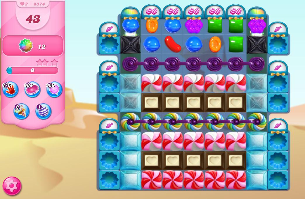 Candy Crush Saga level 8374