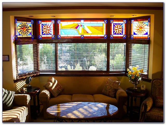 Stained GLASS WINDOW Shades for sale