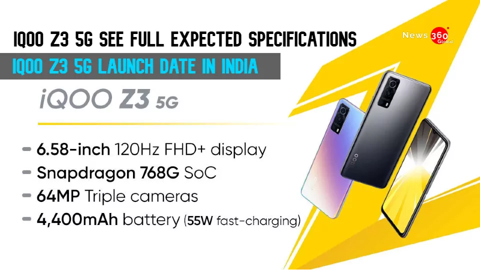 iQoo Z3 5G Leaked Battery and Camera Specifications,  iQoo Z3 5G launch date in India,  iQoo Z3 5G see full expected specs..
