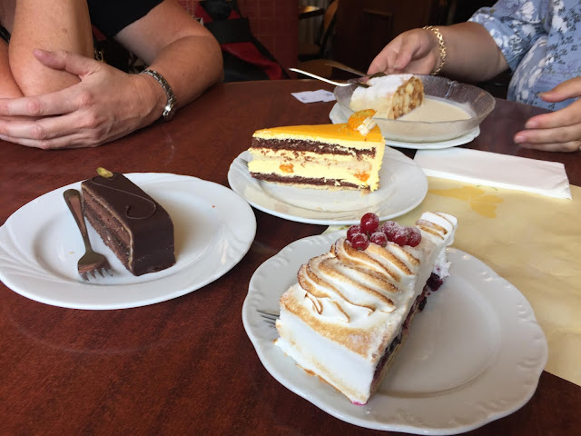 Cakes at local bakery in Pankow district