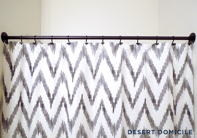 DIY Pipe Shower Curtain Rod Desert Domicile