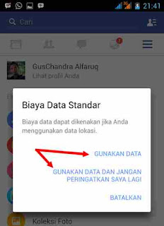notifikasi teman di sekitar fb