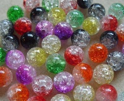 acrylic crackle beads