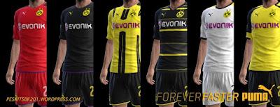 kits Borussia Dortmund 2016/2017 Pes 2013 By BK-201