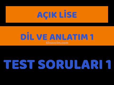 AOL Dil ve Anlatim 1 Online Test