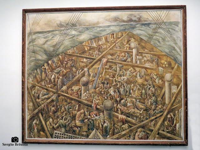 Close-up da Obra Navio de Emigrantes - Museu Lasar Segall - São Paulo
