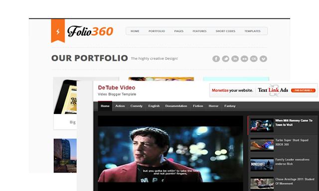 Blogger Portfolyo Tasarım ve Detube Video Teması