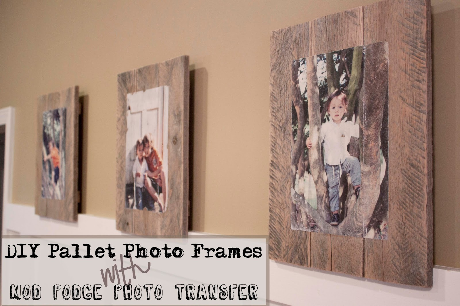 DIY Pallet Photo Frames & Photo Transfer Technique