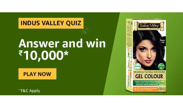 Amazon Indus Valley Quiz Answers - Win Rs.10,000