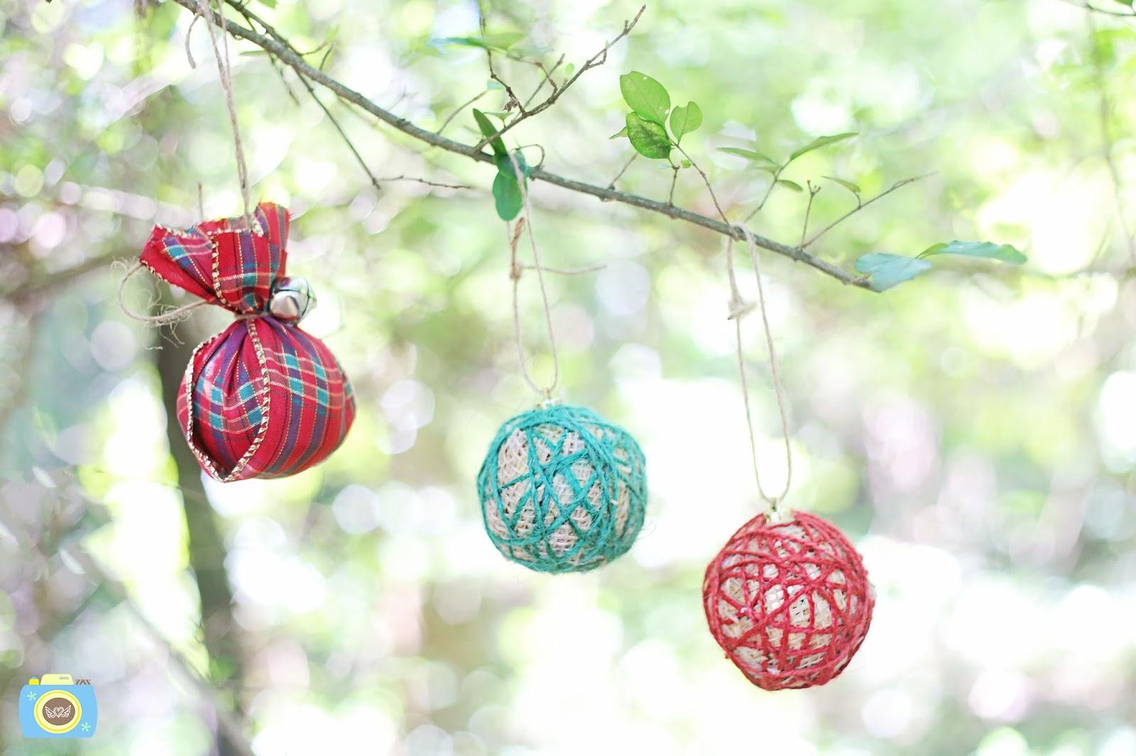 DIY Rustic Dollar Tree Christmas Ornaments