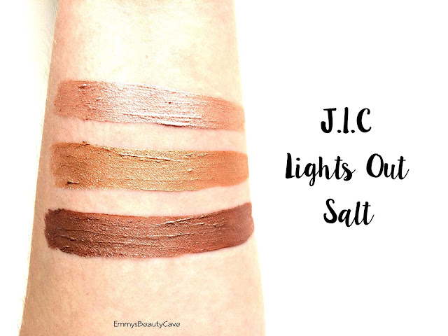 ColourPop Ultra Metallic Lips J.I.C Lights Out Salt Swatches