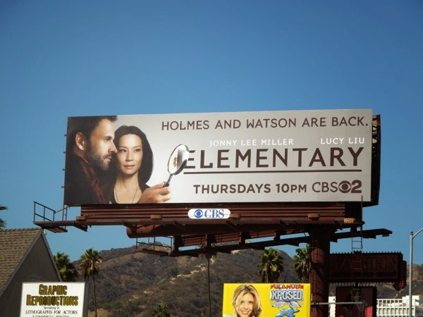 Elementary season 3 CBS billboard