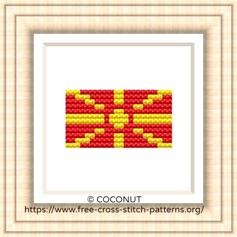 NATIONAL FLAG OF MACEDONIA CROSS STITCH CHART