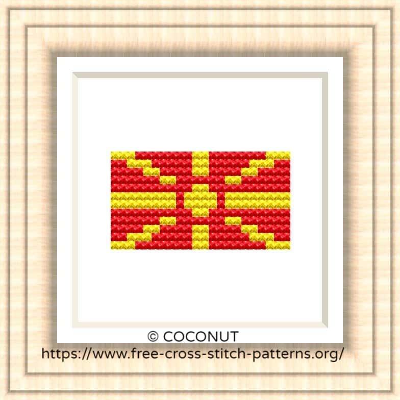 NATIONAL FLAG OF MACEDONIA CROSS STITCH CHART