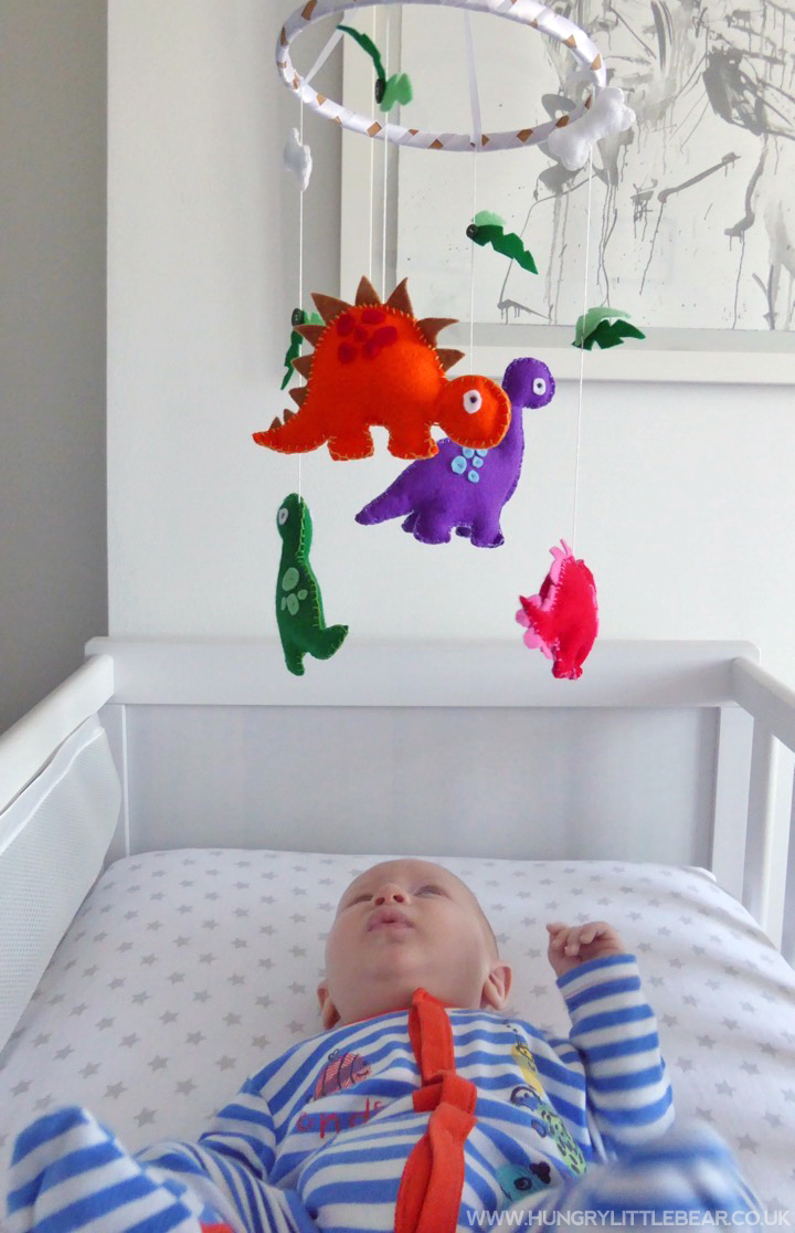 diy dinosaur baby mobile take some whisks. Black Bedroom Furniture Sets. Home Design Ideas
