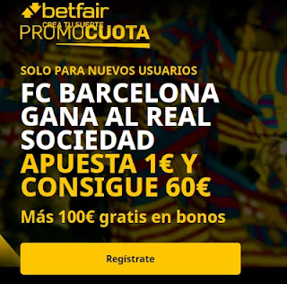 betfair promocuota Barcelona gana Real Sociedad 21 marzo 2021