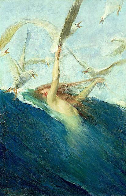 Giovanni Battista Emmanuele Maria Segantini: Una sirena assalita dai gabbiani