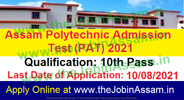 Polytechnic Admission Test,(PAT) 2021: Apply Online Here [