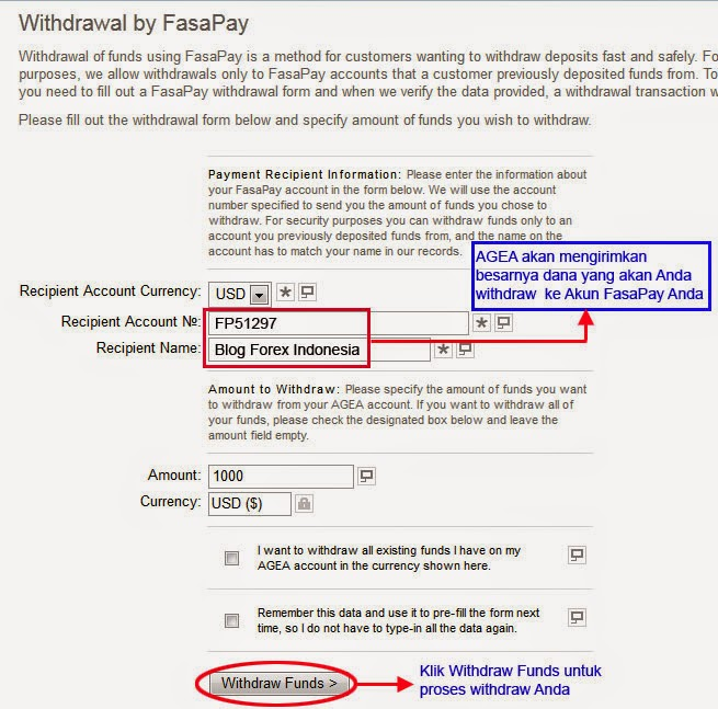 Cara Deposit AGEA Dengan FasaPay | Blog Forex Indonesia
