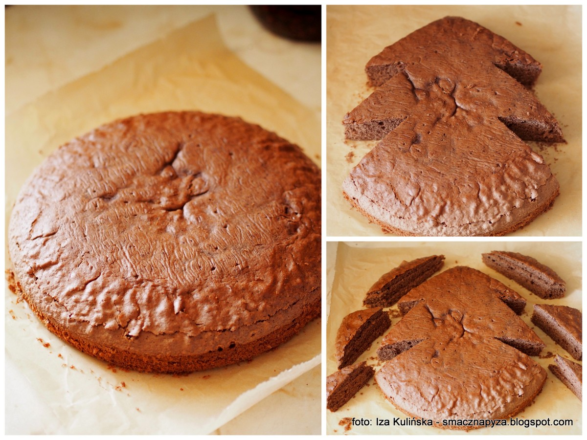 ksztalt_choinki, forma, formowanie, ciasto_domowe, biszkopt