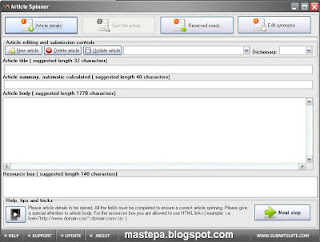 Download gratis article spinner full key terbaru