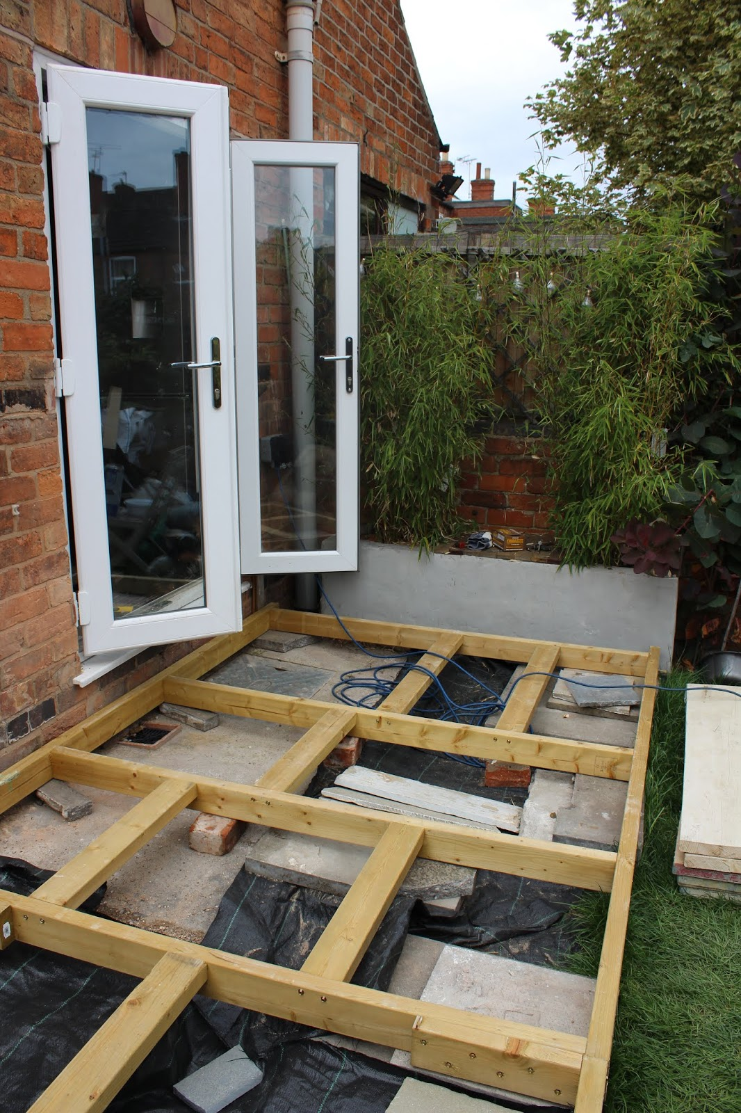 Building a Frame for Raised Decking