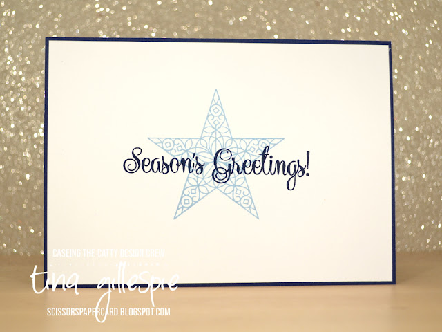 scissorspapercard, Stampin' Up!, CASEing The Catty, So Many Stars bundle, Rectangle Stitched Dies, Delicata Ink, Christmas