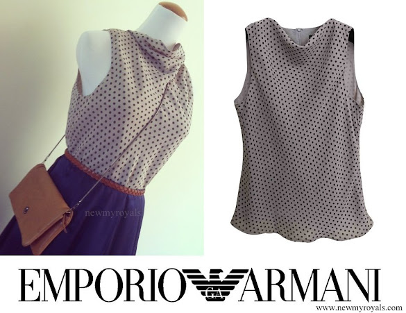 Princess Marie wore Emporio Armani Silk Top