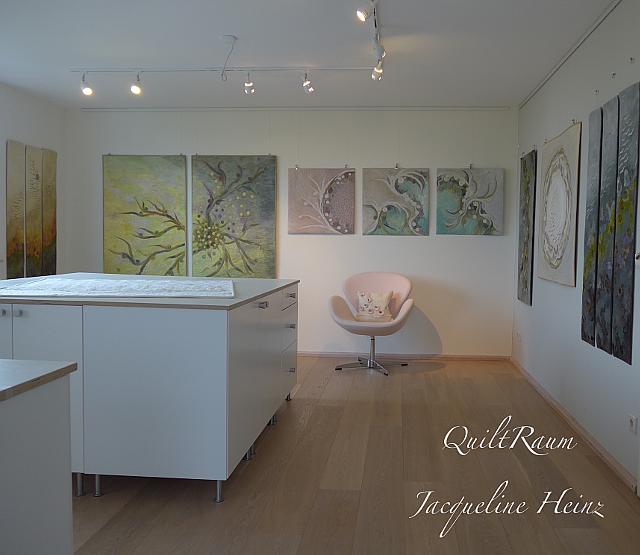 Blick in mein Quilt Atelier - Studio von Jacqueline Heinz, Wolfenbüttel