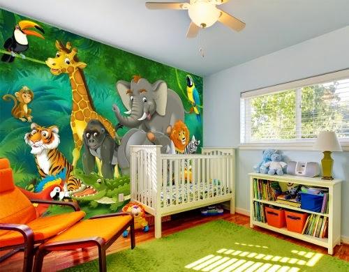 Dormitorios de beb tema la selva dormitorios colores y for Imagenes para decorar cuartos