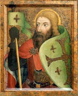 Cavaleiro na capela de Karlstein, Maestro Teodorico de Praga, 1536