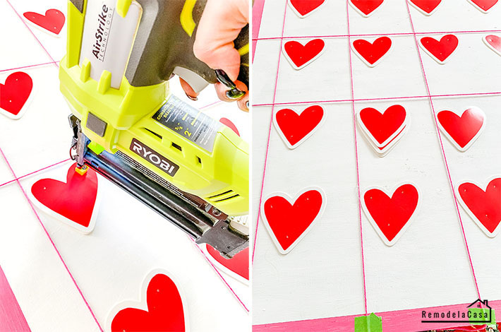 Ryobi nailer and DIY valentine's day wall art