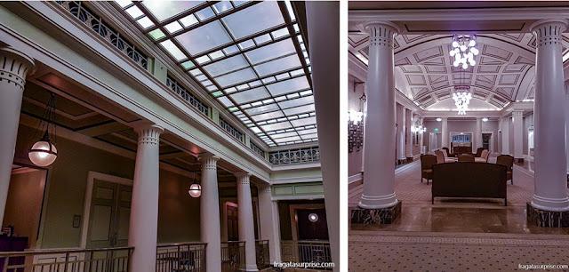 O acesso às galerias e uma sala de espera do teatro Schermerhorn Symphony Center, em Nashville, EUA