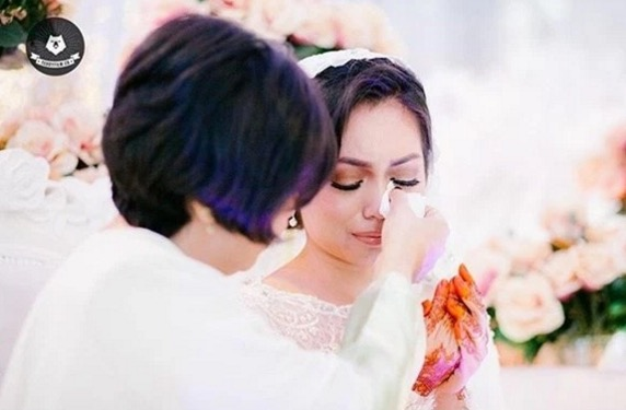 Gambar kahwin Nad Zainal dan Muhammad Faliq