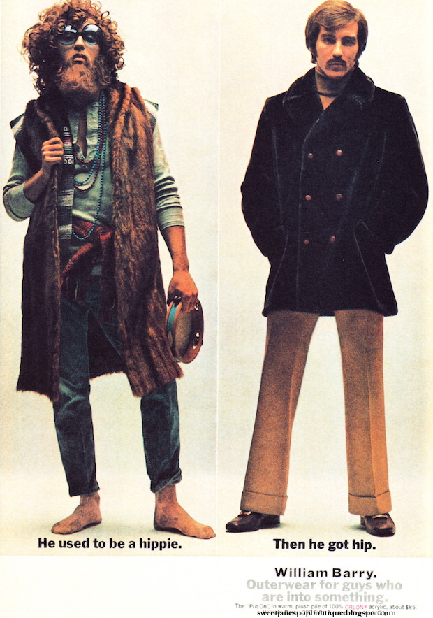 hippie fashion advert 1960s
