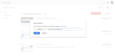 Submit URL Blog di Google Webmasters