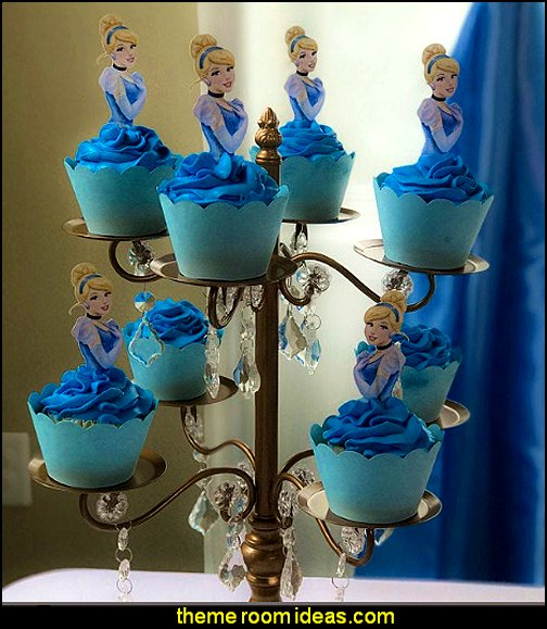 Cinderella Cupcake Toppers, Birthday Party Cupcake Toppers