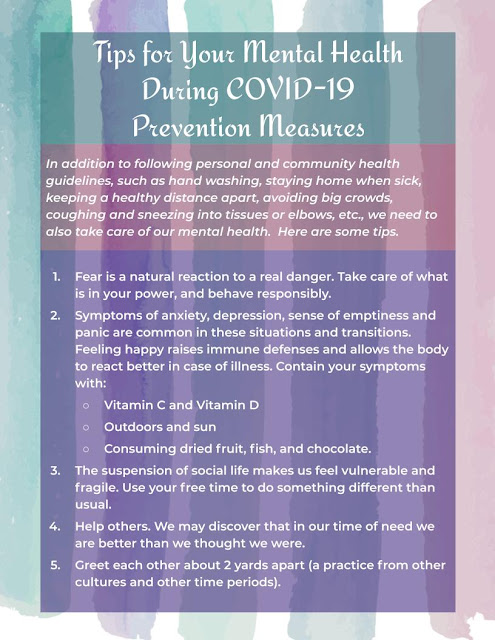 mental health tipd during covid-19 measures jpg with water color background (text below)