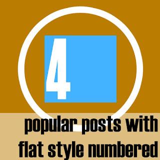 Widget Popular Posts Flat Style Numbered