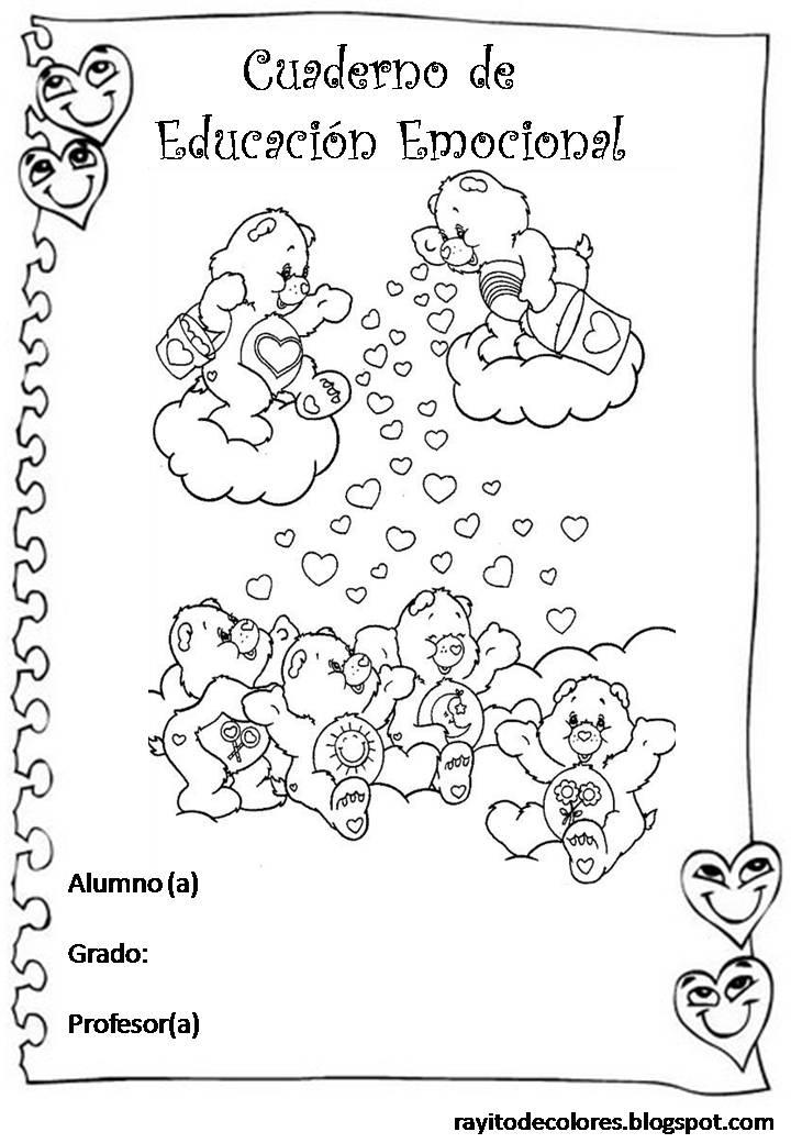 Carátula para cuaderno de Educación emocional