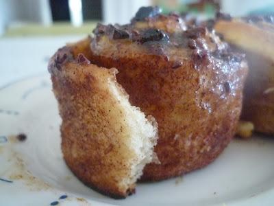 cinnamon rolls sin leche ni mantequilla