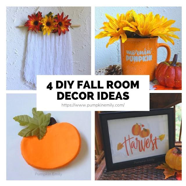 4 Easy Cheap Diy Fall Room Decor Ideas Pumpkin Emily