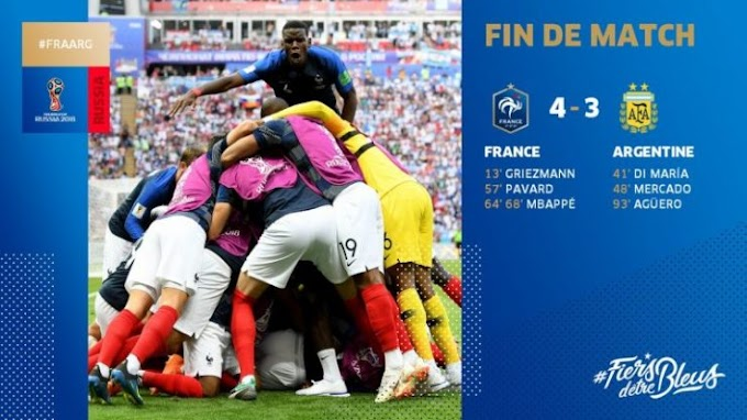 Download Video: France Sent Argentina Out of the FIFA World Cup by 4 - 3