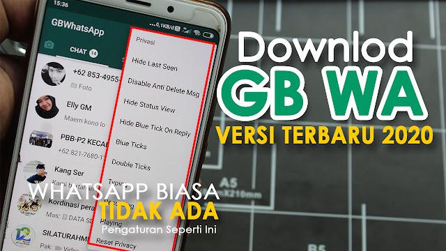 Berikut ini link download aplikasi gb wa bersi terbaru 2020