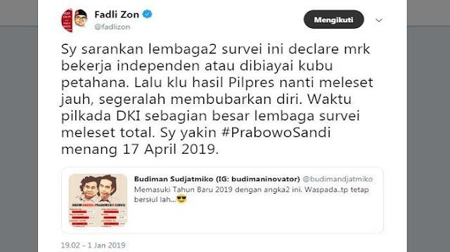 9 Lembaga Survei Sebut Jokowi Ungguli Prabowo, Fadli Zon Ngomel