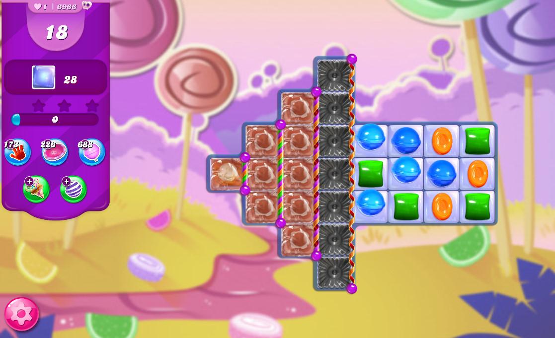 Candy Crush Saga level 6966